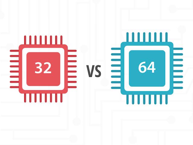 ما الفرق بين معالجات 32 بت و 64 بت