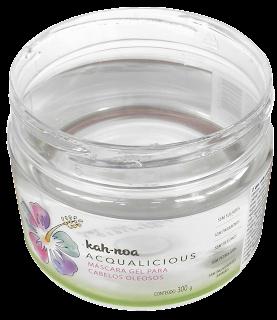 Ingredientes Máscara Kah-noa Acqualiciuos - Máscara para cabelos oleosos em gel