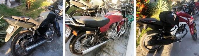Polícia recupera Três motos roubadas no Recanto dos Pássaros