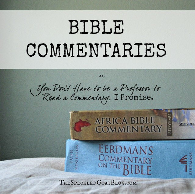 Bible Commentaries are a great resource for making Scripture clear. Don't be intimated by their many pages- you don't have to be a professor to read a commentary!