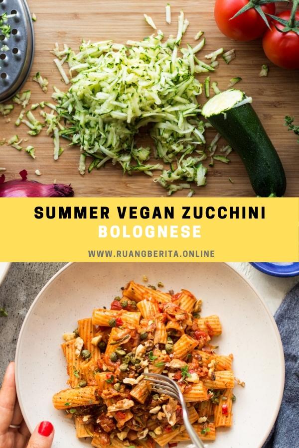 Summer Vegan Zucchini Bolognese #dinner #maincourse #summer #vegan #zucchini #bolognese