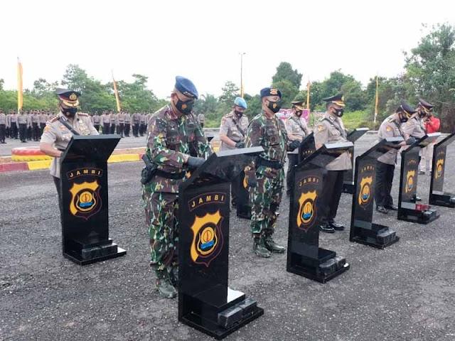 Kapolda Pimpin Sertijab 5 Pejabat Utama Polda Jambi