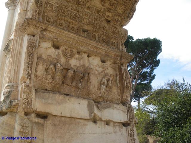 Arc de Tit, Roma, arqueologia