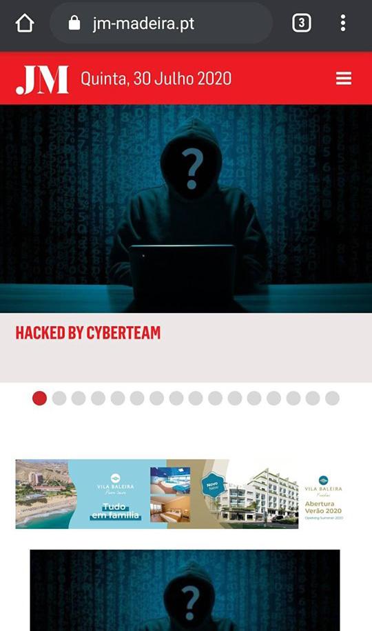 Depois de pirateado por DDT, JM volta a ser pirateado, desta feita por hackers