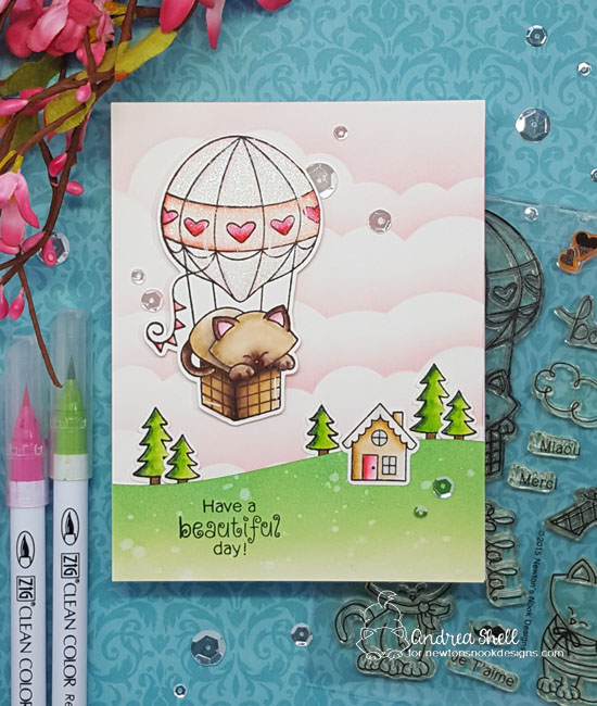 Have a beautiful day by Andrea features Newton Dreams of Paris and Snow Globe Scenes by Newton's Nook Designs; #newtonsnook