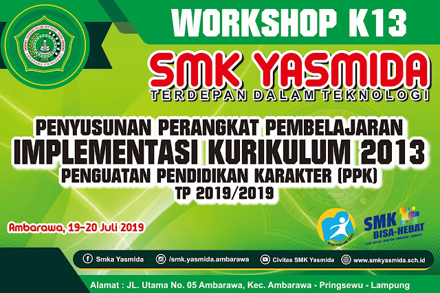 Desain Banner Workshop Perangkat Pembelajaran Kurikulum 2013 SMK Yasmida