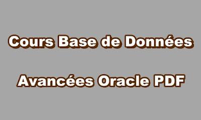 Cours Base de Données Avancées Oracle PDF