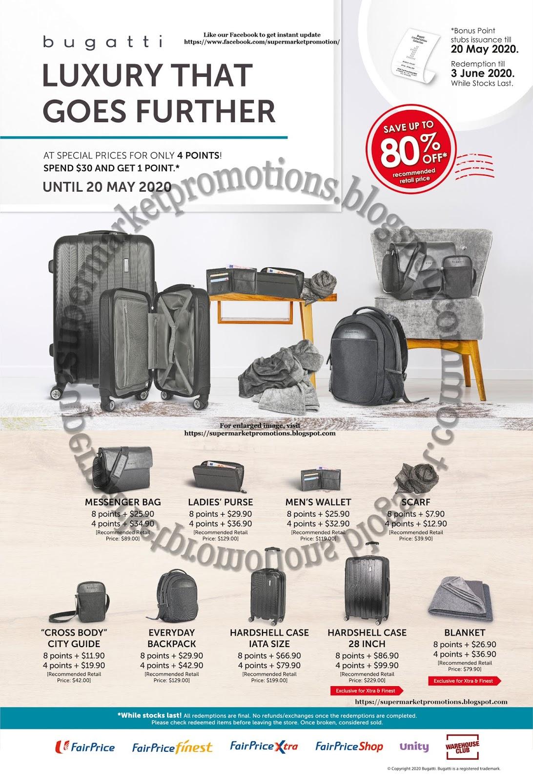 Ntuc Fairprice Redeem Bugatti Luggage Accessories Promotion 20