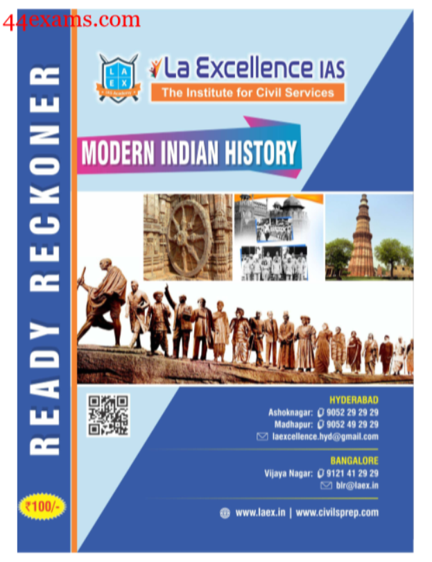 Modern Indian History : For UPSC Exam PDF Book