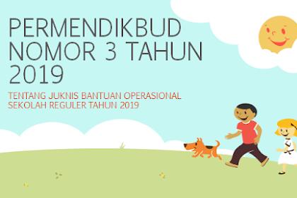 Permendikbud Nomor 3 Tahun 2019 Tenjang Juknis BOS 2019
