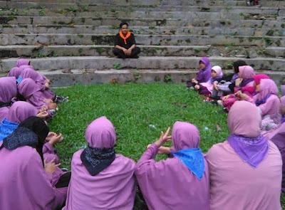 Kegiatan Outbond SMP IT Az Zahra Lampung di Lokasi Youth Camp Tahura Wan Abdurrahman