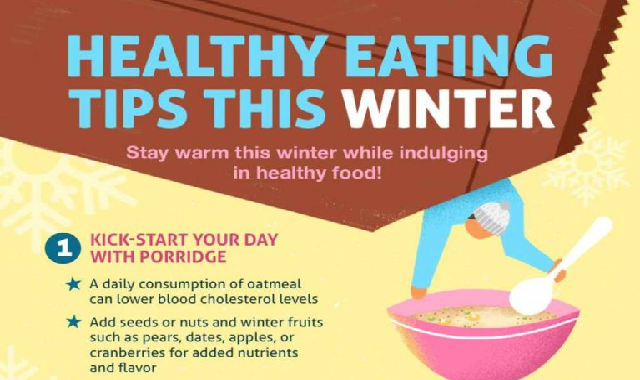 9 Healthy Eating Tips This Winter #infographic