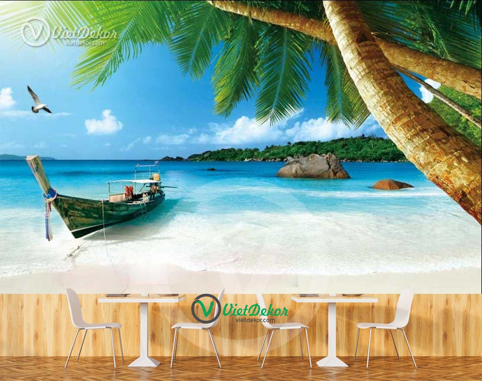 Tranh phong cảnh thuyền trên biển