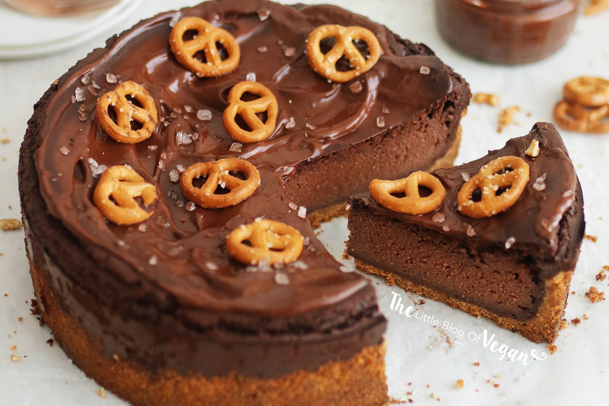 Baked Vegan Chocolate Cheesecake recipe