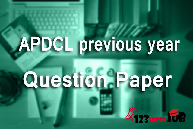 APDCL previous year's question papers
