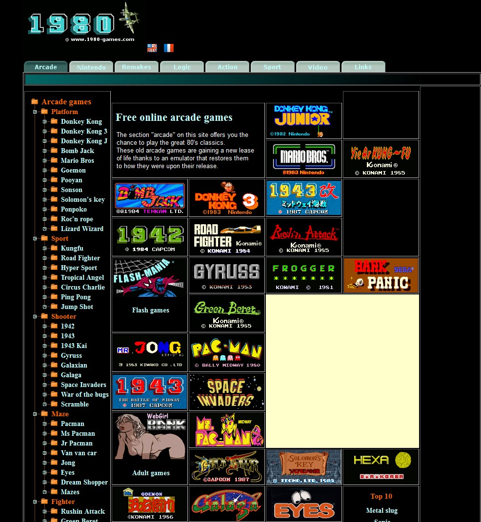Gaming Info Sites: Online Flash Website, Lots Of