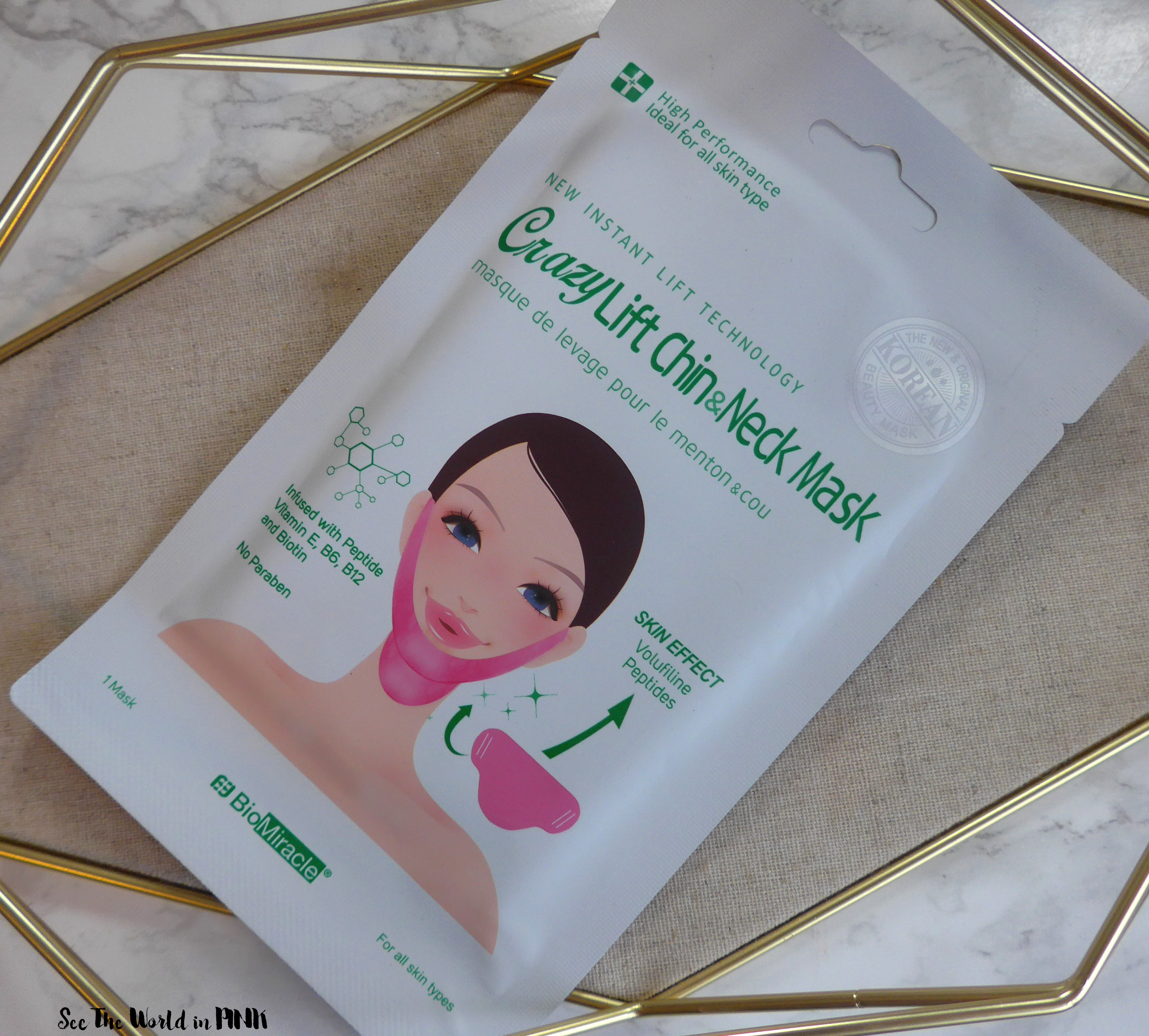 Skincare Saturday - BioMiracle Crazy Lift Chin & Neck Mask