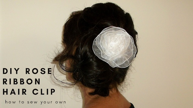 DIY Rose Ribbon Hair Clip - How To Sew Your Own