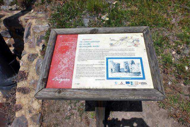Cartel informativo castillo de Trasmoz