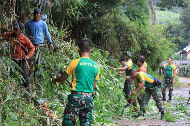 30 Prajurit Yonif Raider 321 Kostrad Gelar Karya Bhakti di Cianjur