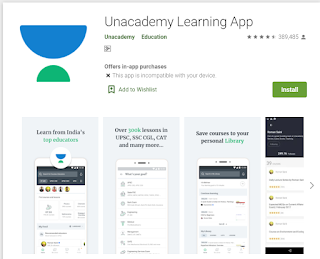 Best App for Online Learning Unacademy App - Learning App in Hindi