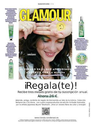 Suscripción Revista Glamour agosto 2020