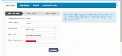 Cara Transfer dengan Internet Banking di Indodax