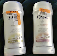 DOVE deodorant antiperspirant Clear Tone sheer touch skin renew dark armpit discoloration