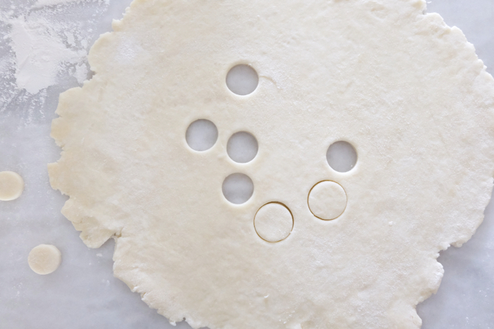 cutting vents with round cookie cutter