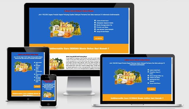 Template Landing Page Blogspot