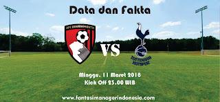 Data dan Fakta Fantasy Premier League GW 30 Bournemouth vs Tottenham Fantasi manager Indonesia