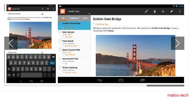 تطبيق استخدام Blogger لـ Android