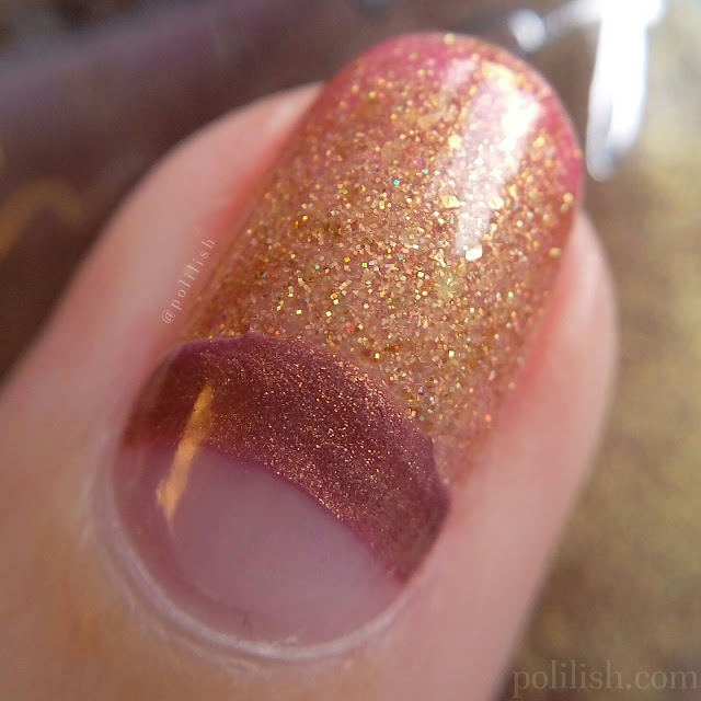 Colour changing thermal manicure featuring Femme Fatale Cosmetics   polilish
