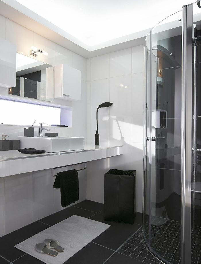 D co black white n 2 la salle de bains for Du cote de chez vous salle de bain