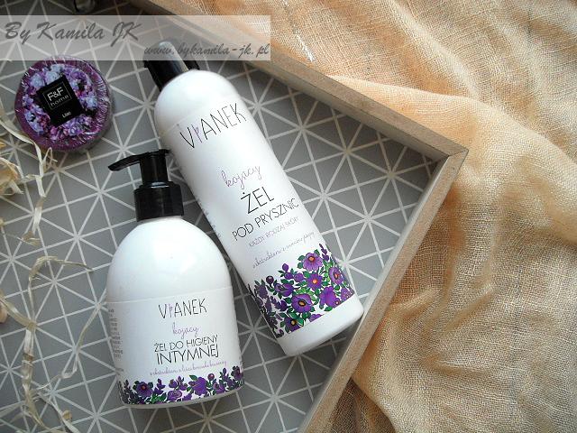 Vianek fioletowy kojący żel do higieny intymnej pod prysznic naturalne polskie kosmetyki