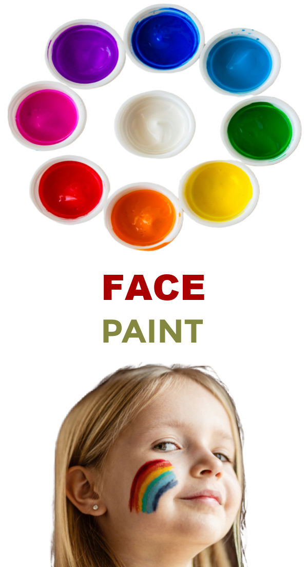 Don't wait for the next carnival or fair.  Make your own face paint at home! #homemadefacepaint #facepaintingideasforkids #facepaintrecipe #growingajeweledrose #activitiesforkids