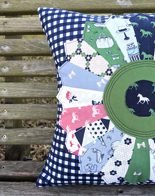 Derby Day pillow by Heidi Staples of Fabric Mutt