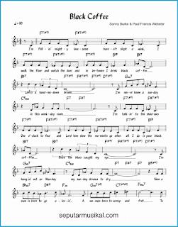 chord black coffee 1 lagu jazz standar
