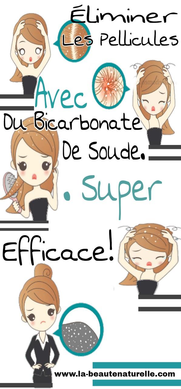 Éliminer les pellicules avec du bicarbonate de soude. Super efficace!
