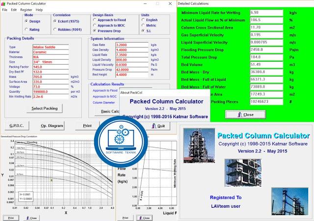 Katmar Packed Column Calculator