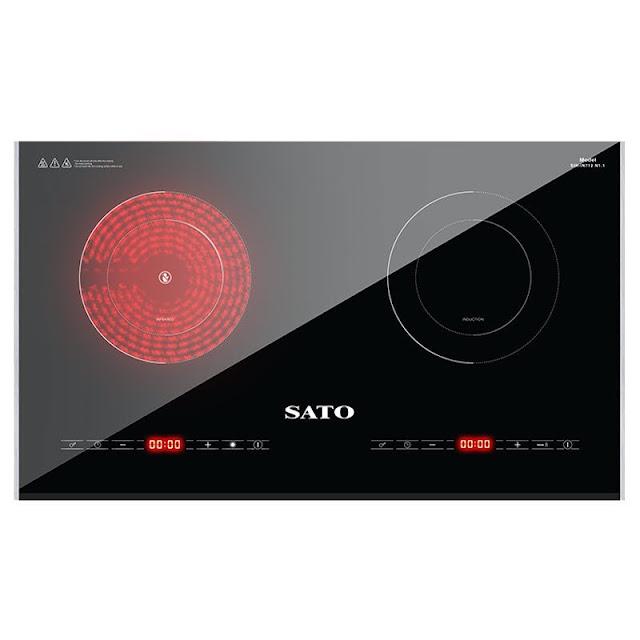 Bếp đôi điện từ hồng ngoại Sato SIH-IN712 N1.1
