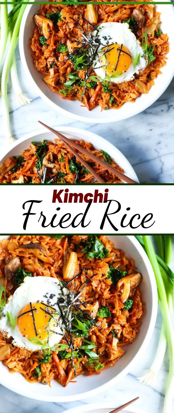 Kimchi Fried Rice #Kimchi #Fried #Rice Healthy Recipes Easy, Healthy Recipes Dinner, Healthy Recipes Best, Healthy Recipes On A Budget,