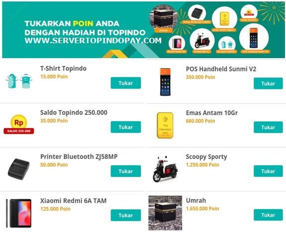 Hadiah Poin Transaksi Topindo