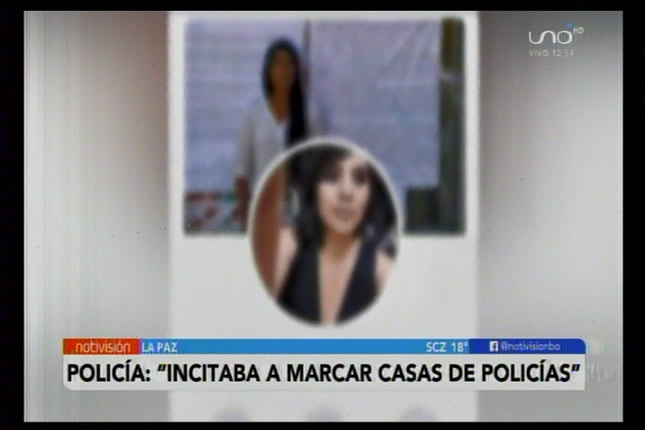 Policía ya tiene la identidad de la mujer que incitaba a marcar casas de efectivos policiales