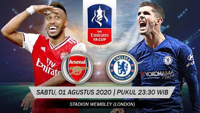 Prediksi Arsenal Vs Chelsea, Sabtu 01 Agustus 2020 Pukul 23.30 WIB @ RCTI