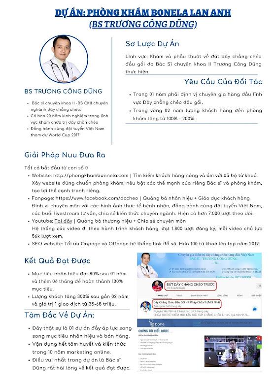 Dự án marketing online cho phòng khám Bonela