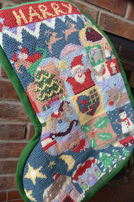 Tapestry Christmas stocking from Jolly Red