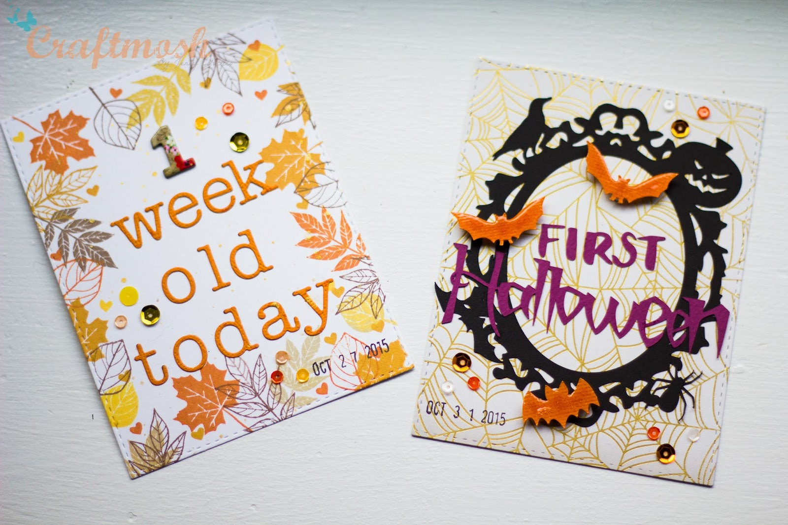new baby and milestone cards