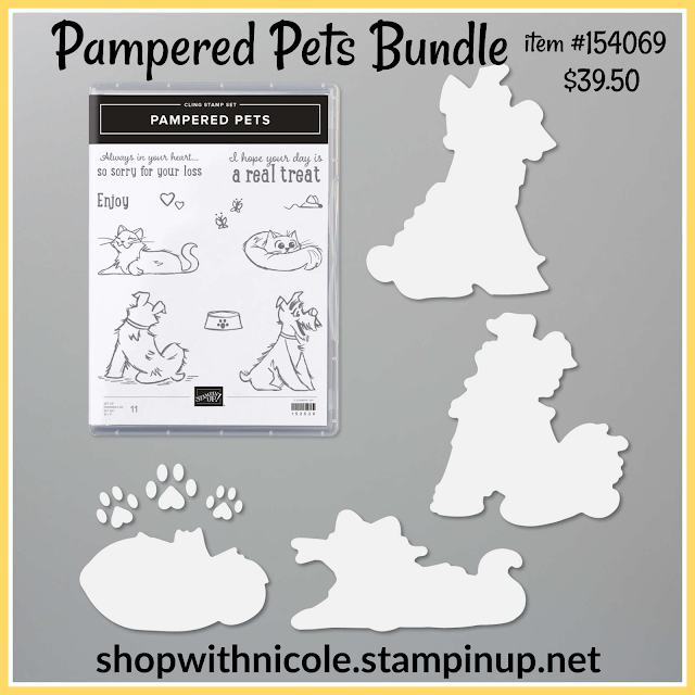 pampered pets bundle, pampered pets, stampin' up!, dog stamps, cat stamps, pet stamps, animal stamps, nicole steele, the joyful stamper, independent stampin' up! demonstrator in pittsburgh pa