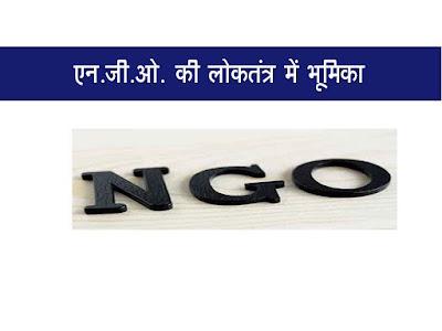 गैर सरकारी संगठनों (NGO) की भारतीय लोकतंत्र में भूमिका   NGO Role in Democracy in Hindi
